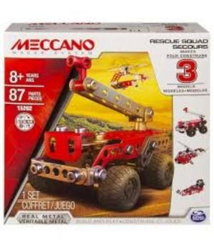 MECCANO - 3 MODEL SET - MEZZI DI SOCCORSO